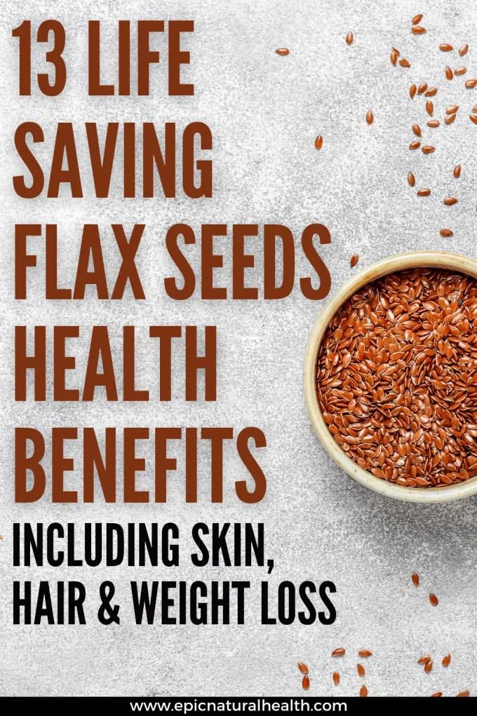 life saving flaxseeds health benefits