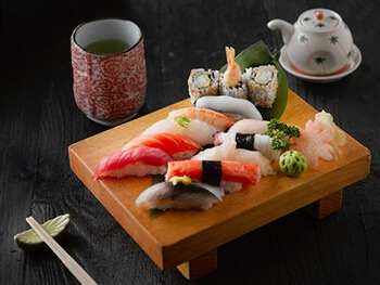 raw fish may contain parasites