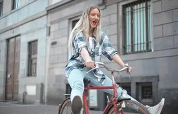 ride bike quickly