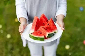 watermelon in plate
