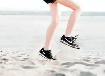 a person exercising