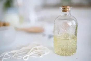 oil inside a bottle
