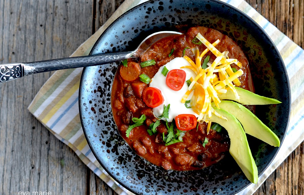 Rocky Mountain Chili {Vegetarian/Vegan/Gluten-free}