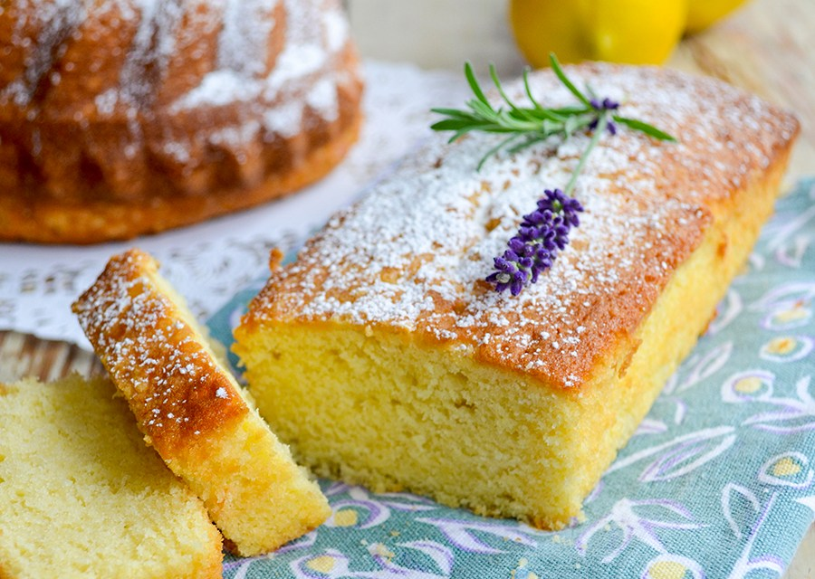 Classic Pound Cake with Lavender Lemon Curd