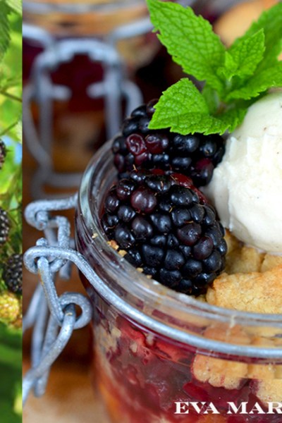 Harvest Peach and Berry Crisp and a Midsummer Road Trip