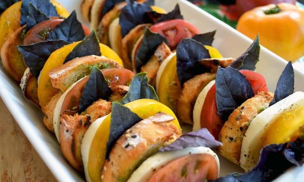 Heirloom Tomato Caprese Toasts