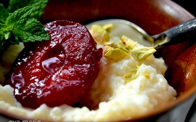 Honey & Plum Rice Pudding
