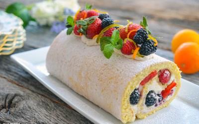 Lemon Roll with Mascarpone Cream