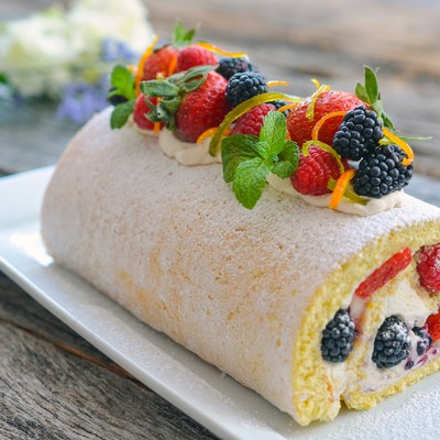 Sunshine Lemon Roll with Mascarpone Cream