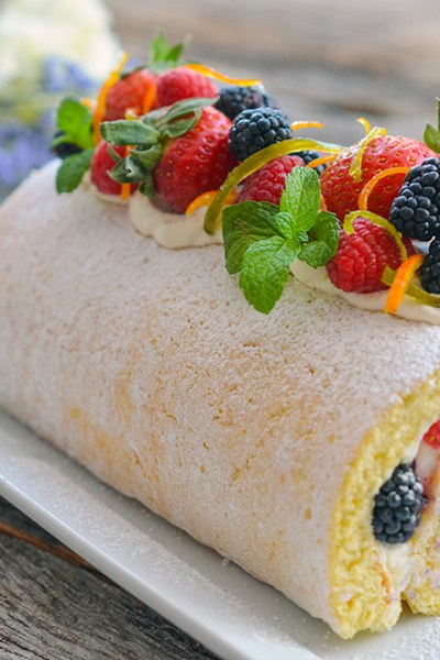 Sunshine Lemon Roll with Mascarpone Cream