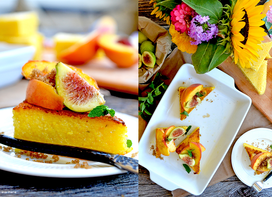 Peach and Polenta collage 2