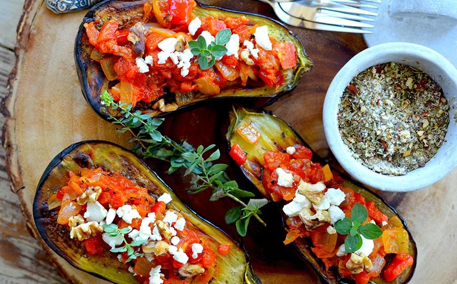 Eggplant Romesco {vegetarian, gluten-free}