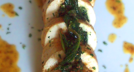 Spinach Artichoke and Feta Chicken Roulade