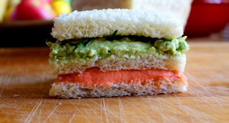 Salmon Avocado Sandwich