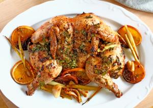 Orange and Garlic Roast Chicken