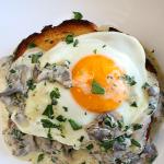 Creamy Mushroom Toast with an Egg