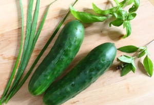 Cucumbers Chives Basil