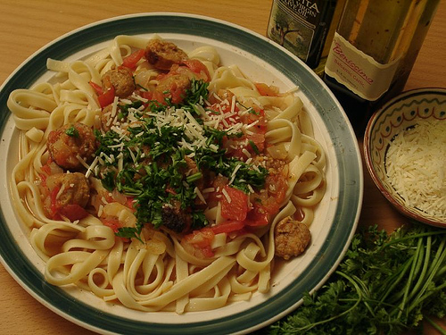 Fettuccine aux tomates et au chorizo