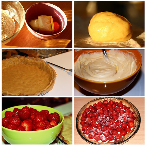Tarte aux fraises à la mascarpone