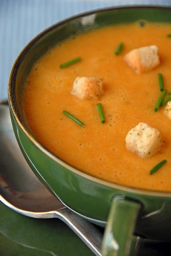 Soupe froide aux carottes et gingembre