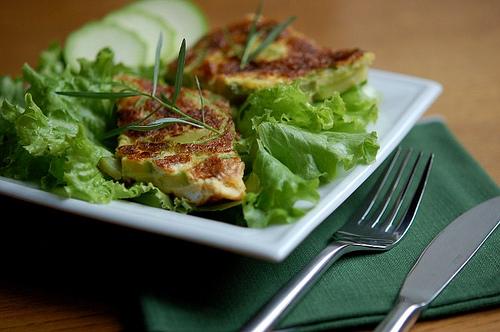 Omelette de courgettes à l'estragon