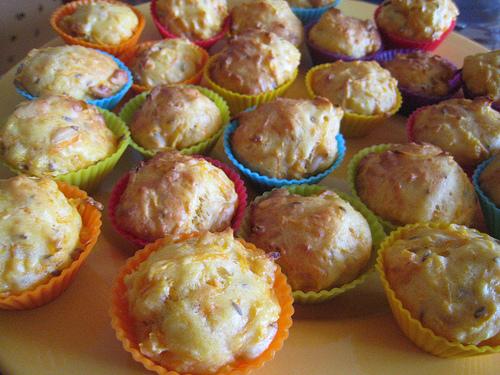 Muffins aux carottes, cumin et pignons