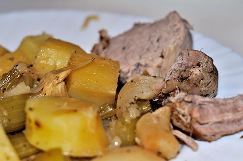 Filet mignon de porc aux légumes