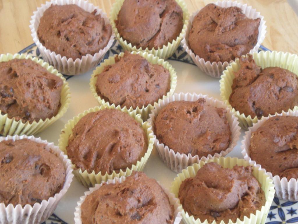 Muffins marrons-chocolat