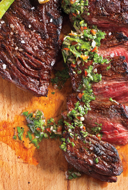 Skirt Steak with Chimichurri Sauce