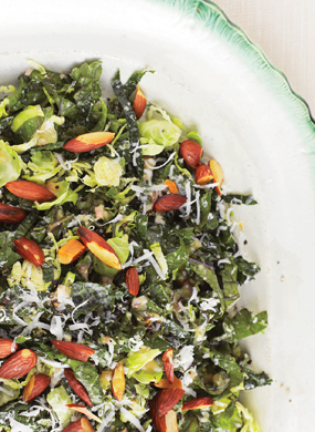 Kale & Brussels Sprout Salad recipe