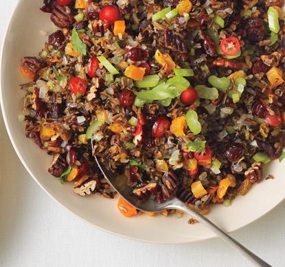 Wild Rice, Fruit, and Pecan Stuffing recipe