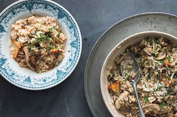 Turkey and Mushroom Risotto recipe