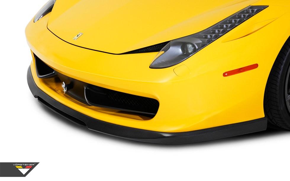 Vorsteiner Ferrari 458-V Aero Front Spoiler (2PCS) Carbon Fiber PP 1x1 Glossy