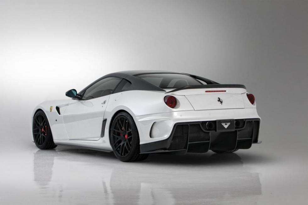 Vorsteiner Ferrari 599-VX Aero Rear Bumper DVWP w/ Integrated Rear Diffuser Carbon Fiber PP 1x1 Glossy