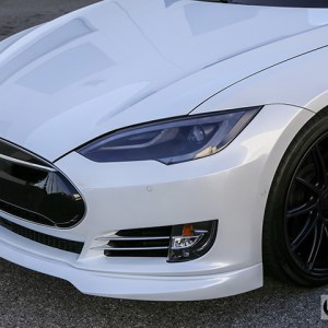 Unplugged Urethane Front Spoiler: Tesla Model S (2012-2016.5)