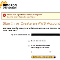 Amazon Login Error: There was a problem with your request