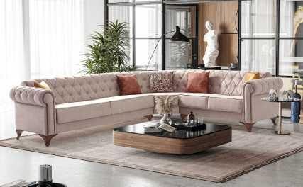 Κλασικός Καναπές Γωνία Κρεβάτι Ermes Corner 13166
