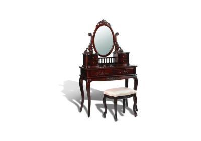 Τoυαλέτα-μπουντουάρ με καθρέπτη και σκαμπό G-370160