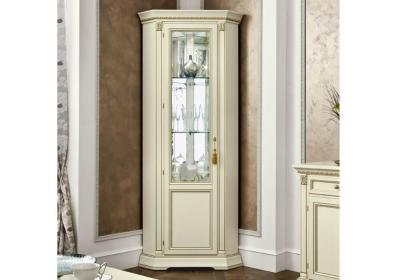 Γωνιακή Λευκή Βιτρίνα Με Σκάλισμα CG-126583