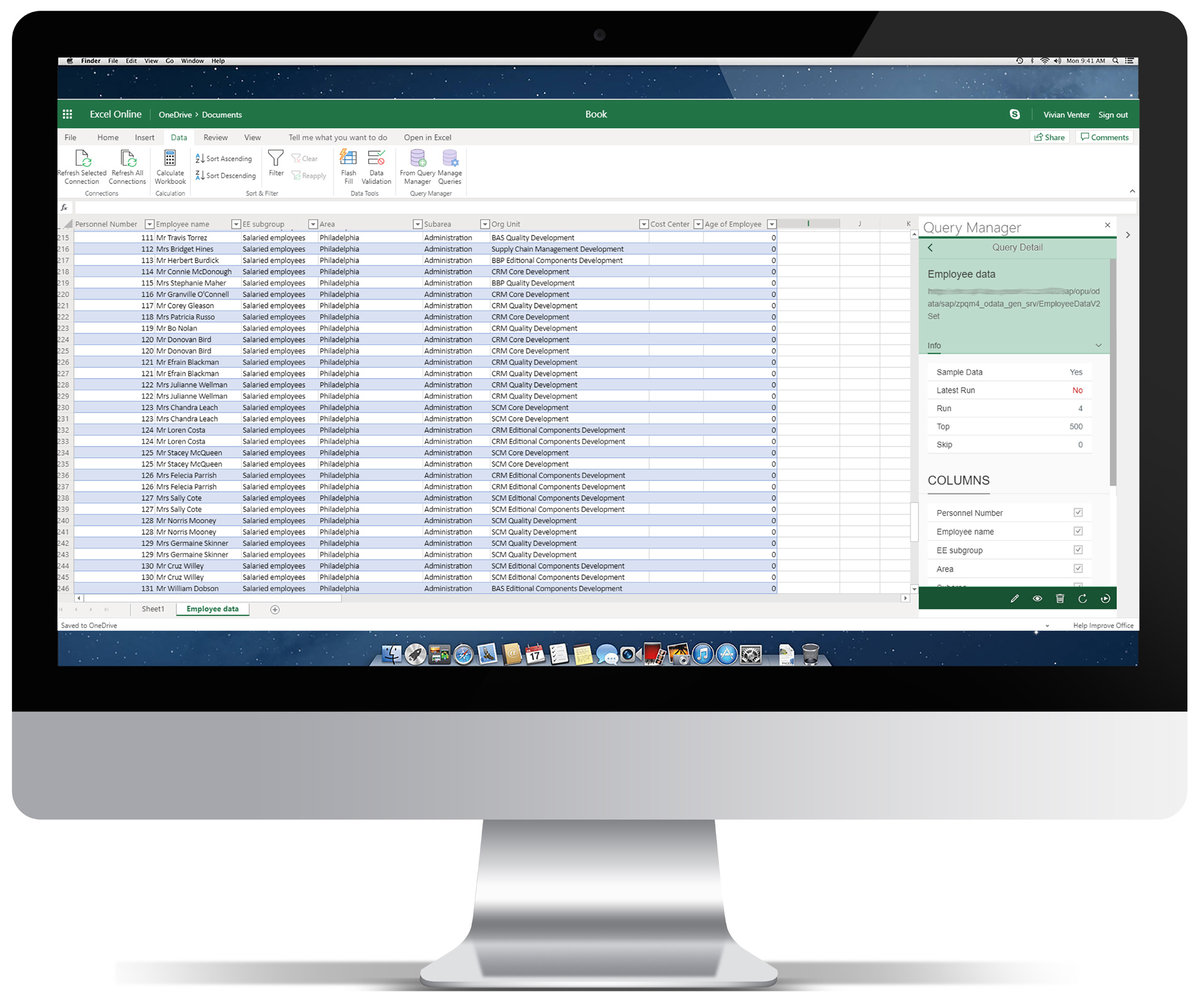 Work With Your Sap Hcm Data Live In Microsoft Excel