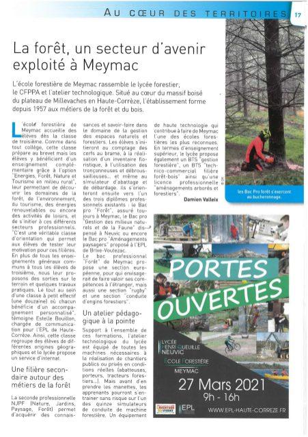 2021-03_UnionPaysanne_Meymac formations forêt