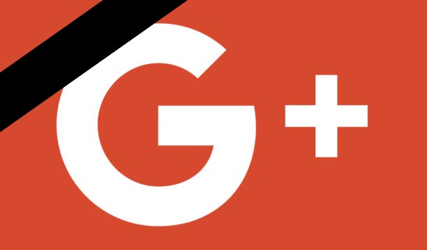 Logo de google plus en deuil