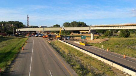 Bridge beams Hwy 212 June15, 2021