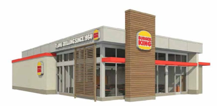 Rendering of a new Burger King at Highway 5 and County Road 4