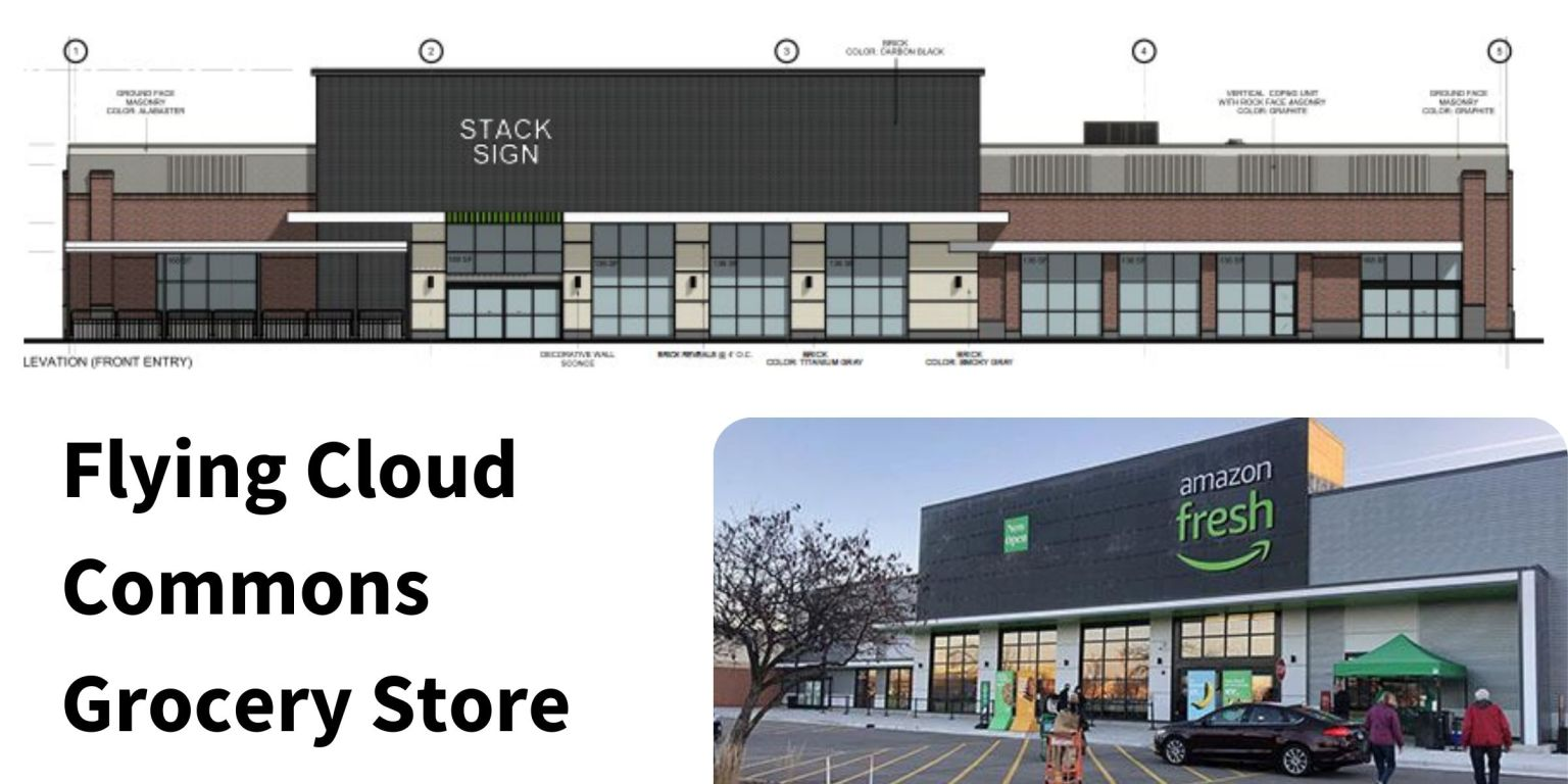 Schematic drawing of proposed grocery store 9-27-21