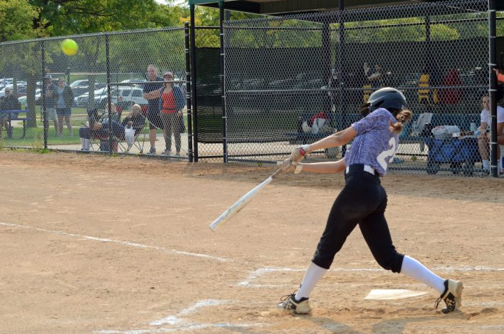 Lily Liu launched a fly ball Sept. 11 against Plymouth Riptide