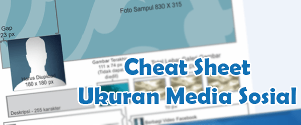 Infografis : Cheat Sheet Ukuran Media Sosial
