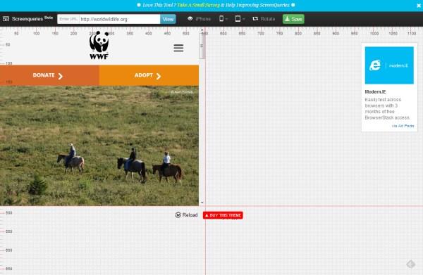 Tools Untuk Menguji Desain Web Responsive - Screenqueri.es
