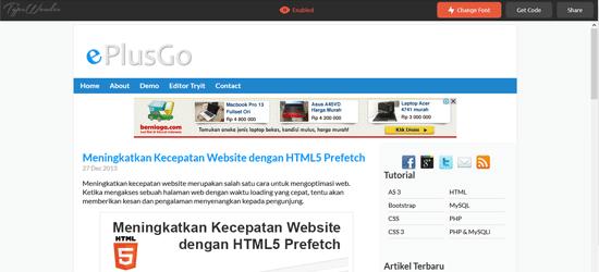 Mengubah Jenis Font Web Secara Instan & Real Time