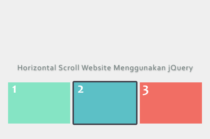 Horizontal Scroll Website Menggunakan jQuery